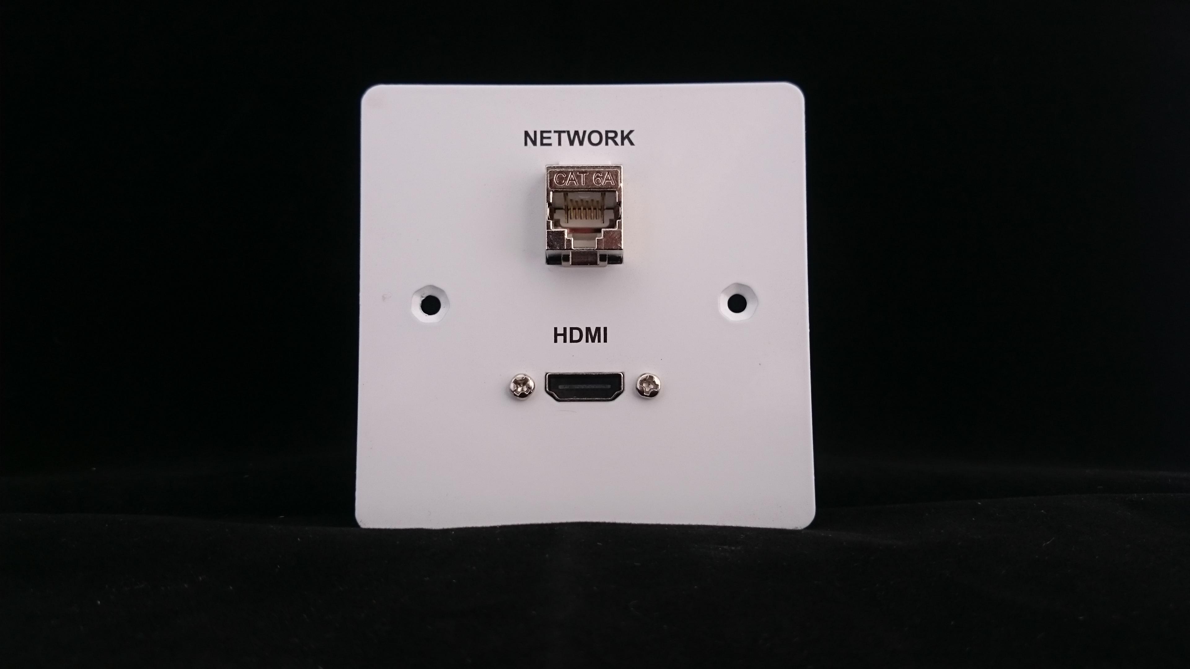 Hdmi And Network Single Gang Av Wall Plate Av Plates