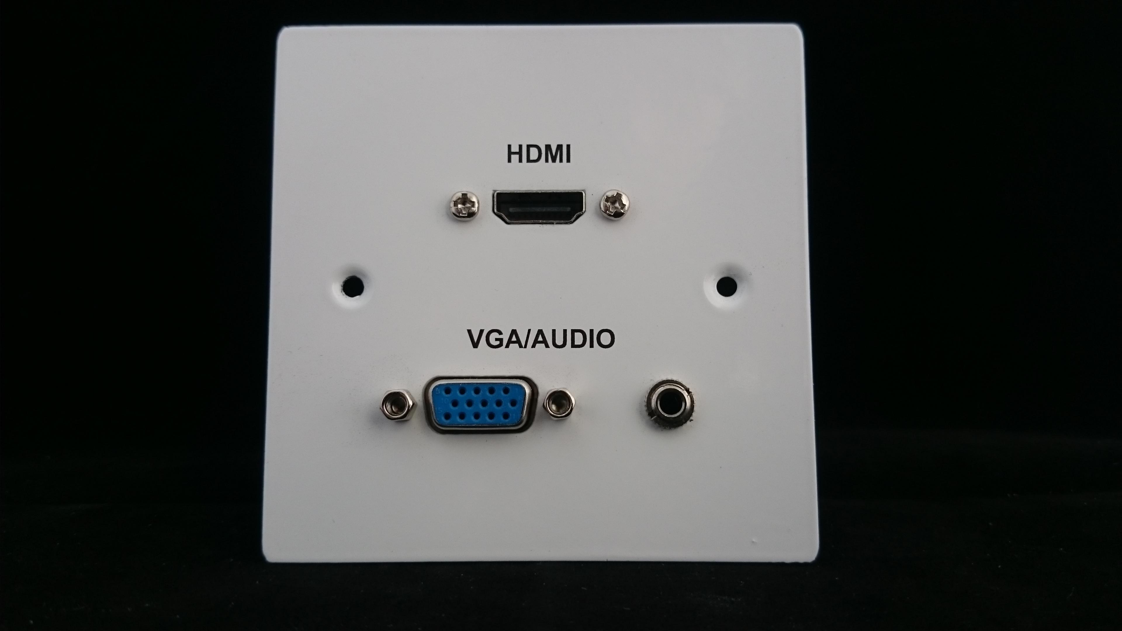 Vga Audio Hdmi Single Gang Av Wall Plate Av Plates